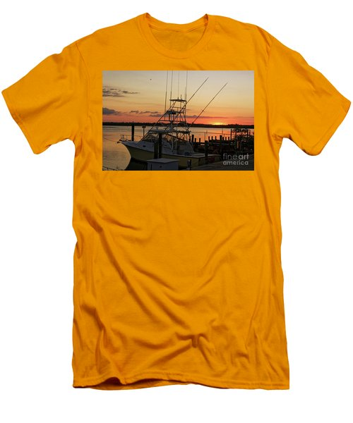 Ponce Inlet Sunset Men's T-Shirt (Slim Fit)