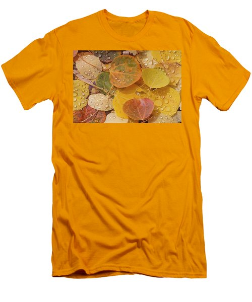 Pool With Aspen Leaves Men's T-Shirt (Athletic Fit)