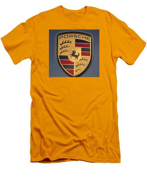 Porsche Emblem Men's T-Shirt (Slim Fit) by Lingfai Leung