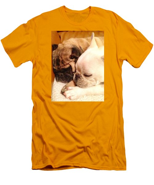 Praying Paws Men's T-Shirt (Slim Fit) by Russell Keating