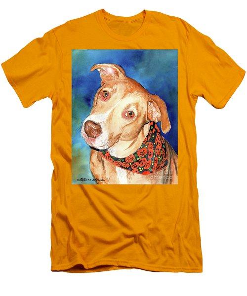 Pretty Please, Dog Portrait, Dog Painting, Dog Print, Dog Art Men's T-Shirt (Athletic Fit)