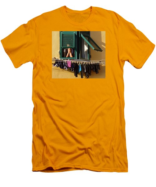 Private Moments Men's T-Shirt (Slim Fit) by Amelia Racca