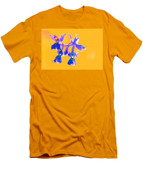 Orange Provence Orchid  Men's T-Shirt (Athletic Fit)