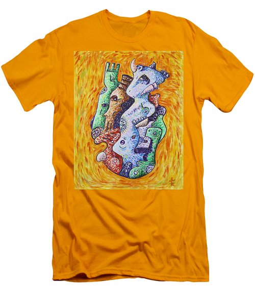 Psychedelic Animals Men's T-Shirt (Athletic Fit)