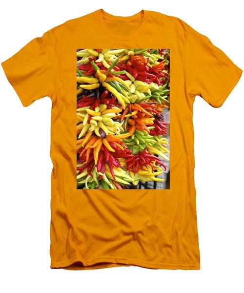 Public Market Peppers Men's T-Shirt (Slim Fit) by Henri Irizarri