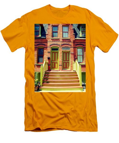 Pullman National Monument Row House Men's T-Shirt (Slim Fit) by Kyle Hanson