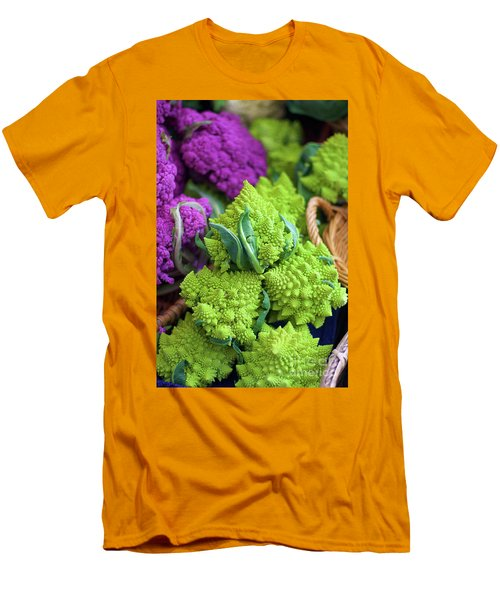 Purple And Romanesco Cauliflower Men's T-Shirt (Athletic Fit)