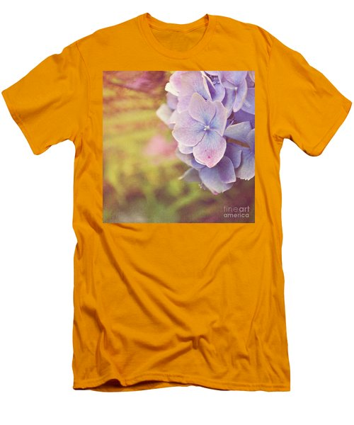 Men's T-Shirt (Slim Fit) featuring the photograph Purple Hydrangea by Lyn Randle