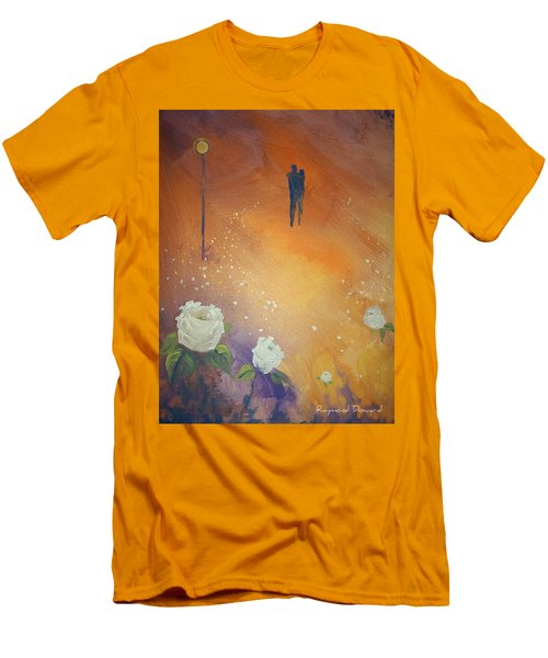 Men's T-Shirt (Slim Fit) featuring the painting Purpose by Raymond Doward