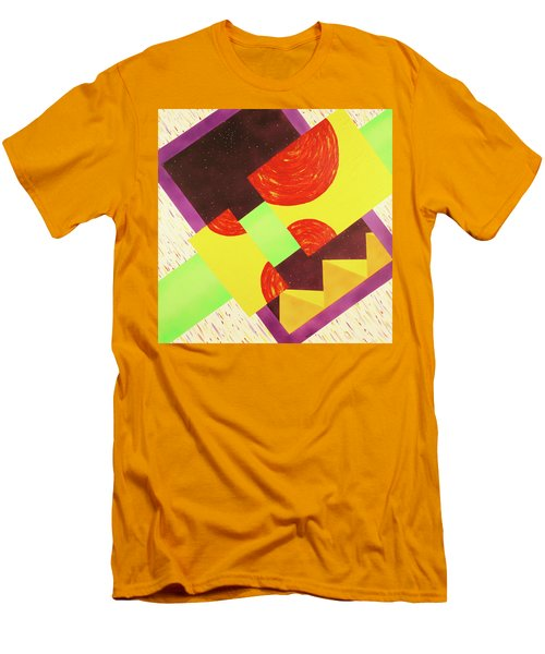 Men's T-Shirt (Slim Fit) featuring the painting Pyramids And Pepperoni by Thomas Blood