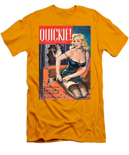 Men's T-Shirt (Slim Fit) featuring the painting Quickie by George Gross