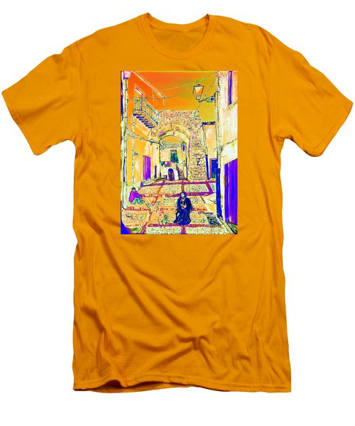 Men's T-Shirt (Slim Fit) featuring the painting Rabato  by Loredana Messina