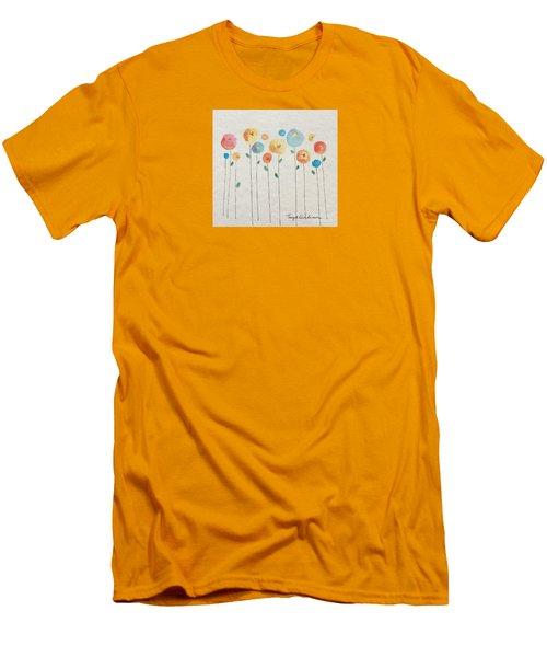 Rainbow Floral Men's T-Shirt (Athletic Fit)