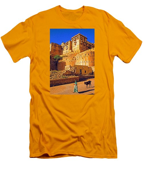 Men's T-Shirt (Slim Fit) featuring the photograph Rajasthan Fort by Dennis Cox WorldViews
