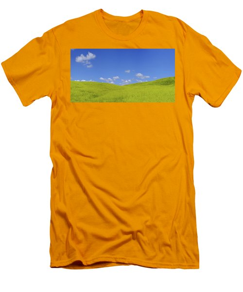 Rapeseed Landscape Men's T-Shirt (Slim Fit) by Marius Sipa