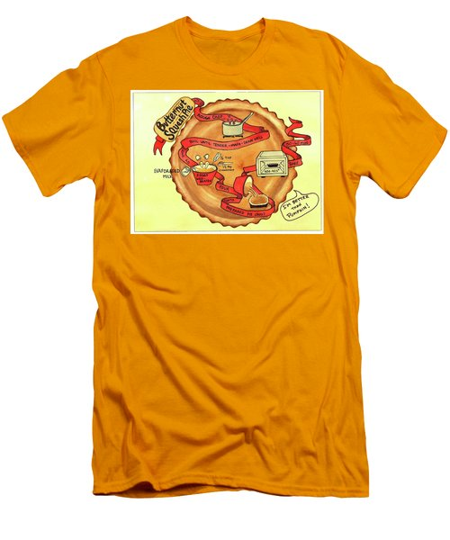 Recipe-butternut Squash Pie Men's T-Shirt (Athletic Fit)