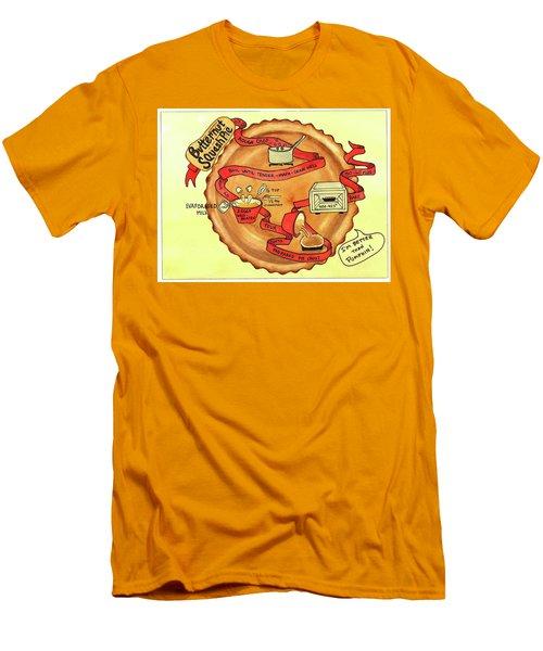 Recipe-butternut Squash Pie Men's T-Shirt (Slim Fit)