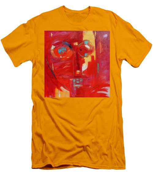 Men's T-Shirt (Slim Fit) featuring the painting Red Face by Gary Coleman