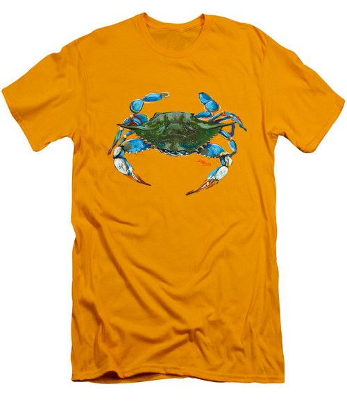 Men's T-Shirt (Slim Fit) featuring the painting Red Hot Crab by Dianne Parks