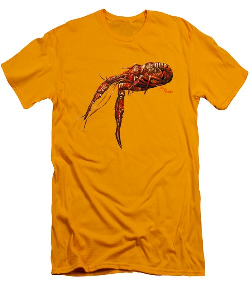 Men's T-Shirt (Slim Fit) featuring the painting Red Hot Crawfish by Dianne Parks