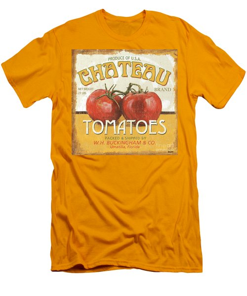 Retro Veggie Labels 4 Men's T-Shirt (Athletic Fit)