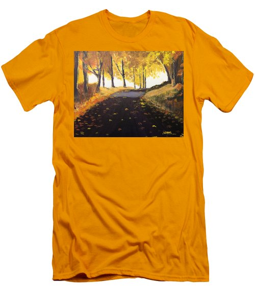 Road In Autumn Men's T-Shirt (Athletic Fit)