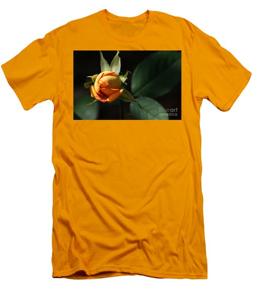 Men's T-Shirt (Slim Fit) featuring the painting Rose Bud by Debra Crank
