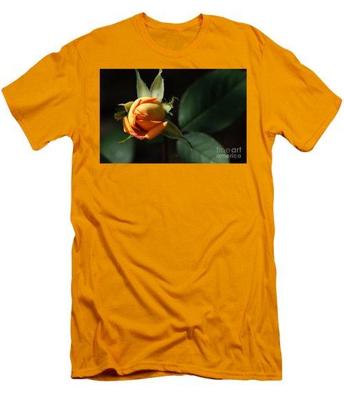 Rose Bud Men's T-Shirt (Slim Fit) by Debra Crank
