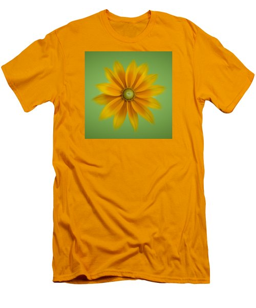 Men's T-Shirt (Slim Fit) featuring the photograph Rudbeckia Blossom Irish Eyes - Square by Patti Deters