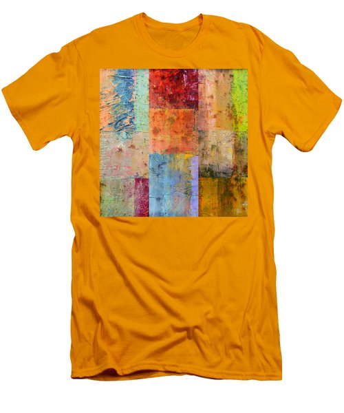 Men's T-Shirt (Athletic Fit) featuring the painting Rust Study 2.0 by Michelle Calkins