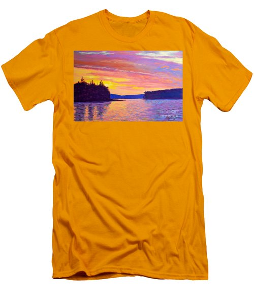 Sailing Home Sunset Men's T-Shirt (Slim Fit) by Rae  Smith