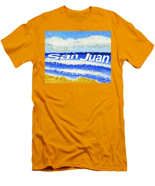 Men's T-Shirt (Slim Fit) featuring the painting San Juan  by Dick Sauer