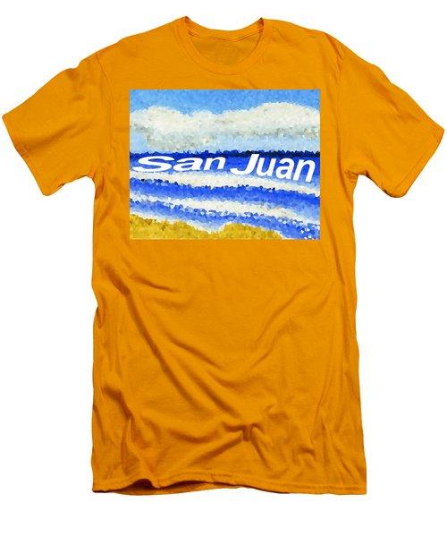 San Juan  Men's T-Shirt (Slim Fit) by Dick Sauer