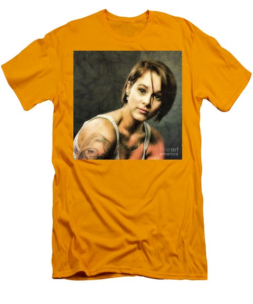 Sara  ... Men's T-Shirt (Slim Fit) by Chuck Caramella