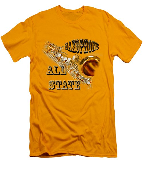 Saxophone All State Men's T-Shirt (Slim Fit) by M K  Miller