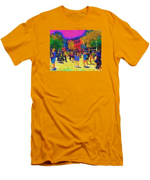 Seattle Street Scene Men's T-Shirt (Slim Fit) by Kirt Tisdale