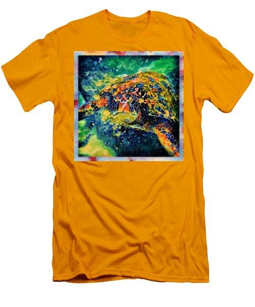 Sebastian The Turtle Men's T-Shirt (Slim Fit) by Erika Swartzkopf