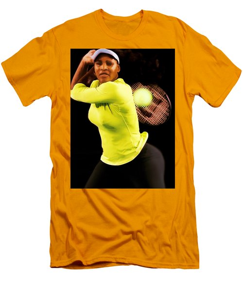 Serena Williams Bamm Men's T-Shirt (Slim Fit) by Brian Reaves