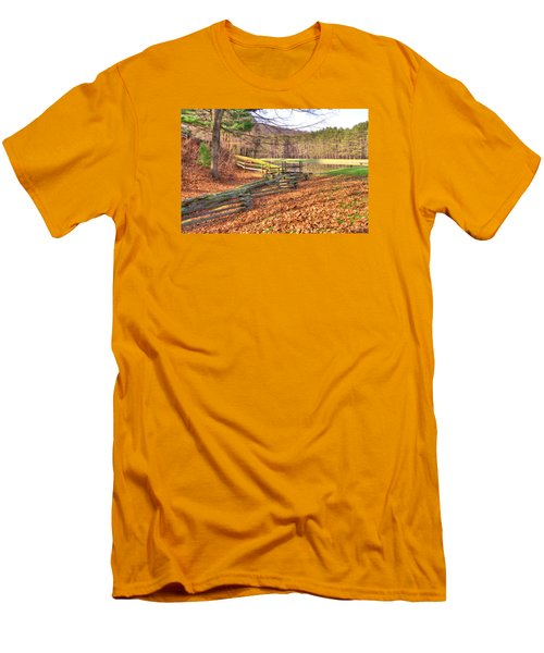 Men's T-Shirt (Slim Fit) featuring the photograph Serene Lake by Gordon Elwell