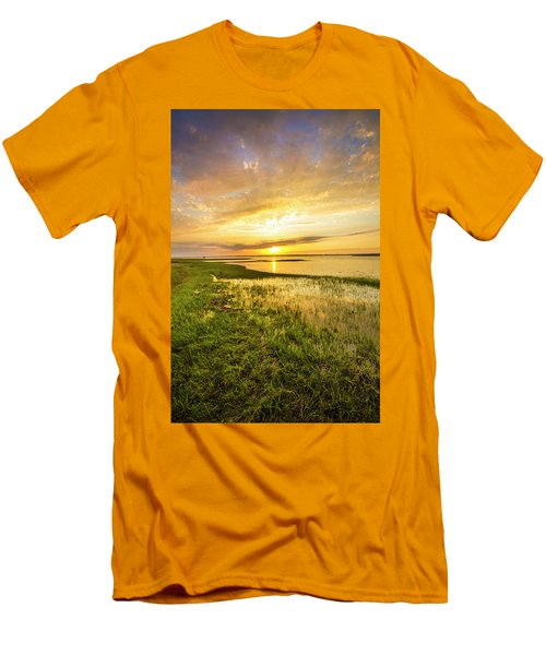 Shinnecock Bay Wetland Sunset Men's T-Shirt (Athletic Fit)