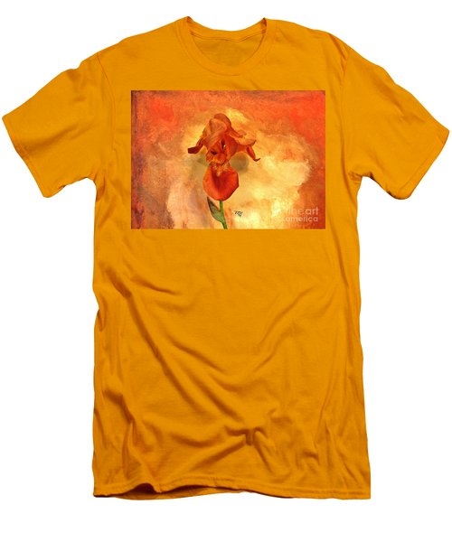 Shy Iris Men's T-Shirt (Slim Fit) by Marsha Heiken
