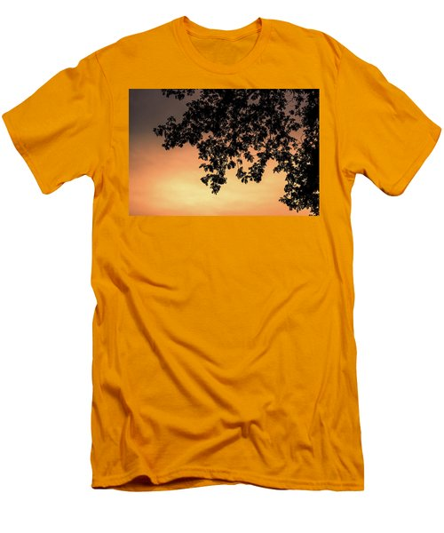 Silhouette Tree In The Dawn Sky Men's T-Shirt (Slim Fit) by Jingjits Photography