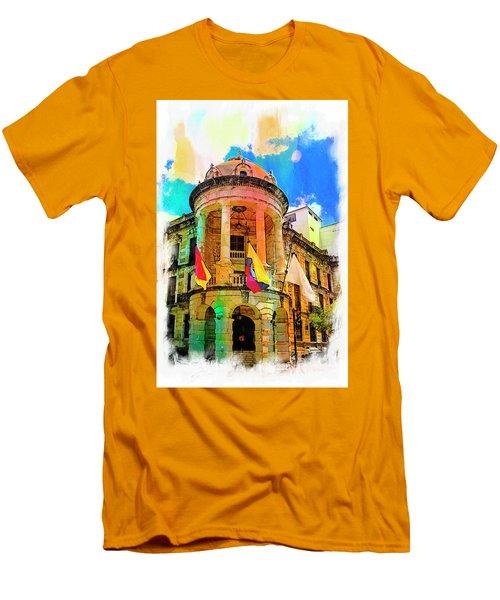 Silly Hall, Cuenca, Ecuador Men's T-Shirt (Slim Fit) by Al Bourassa