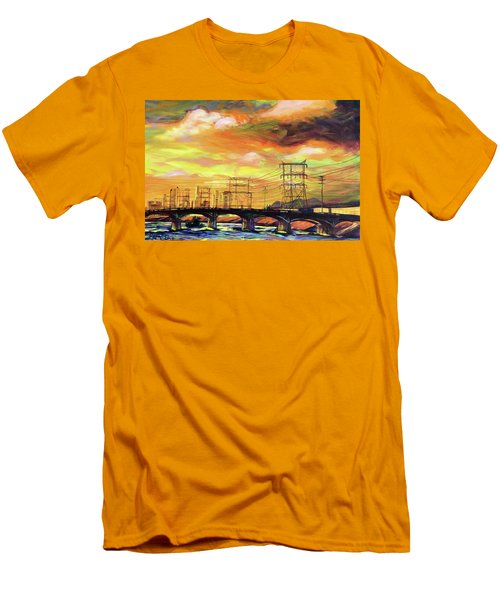 Skylines Men's T-Shirt (Slim Fit) by Bonnie Lambert