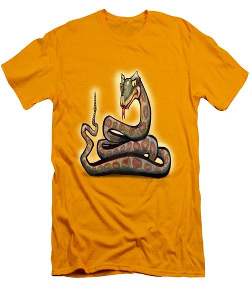 Snake Men's T-Shirt (Slim Fit) by Kevin Middleton
