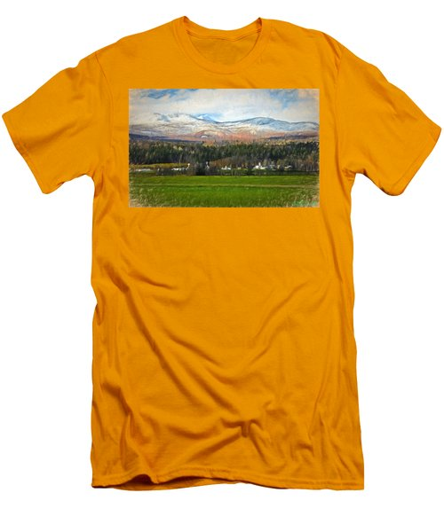 Snow On The Mountains Men's T-Shirt (Slim Fit) by John Selmer Sr