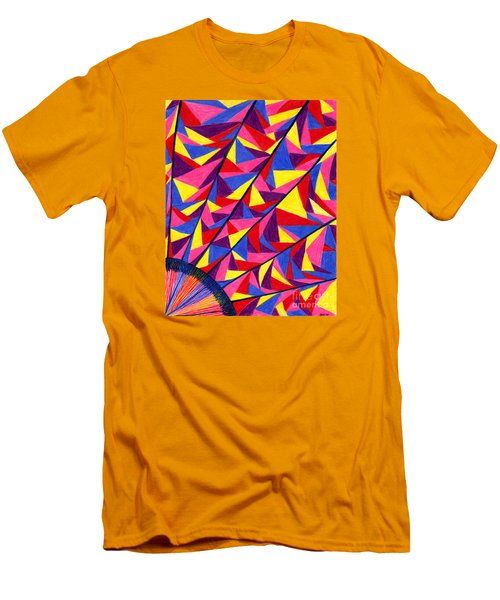 Men's T-Shirt (Slim Fit) featuring the drawing Solar Fractals by Kim Sy Ok