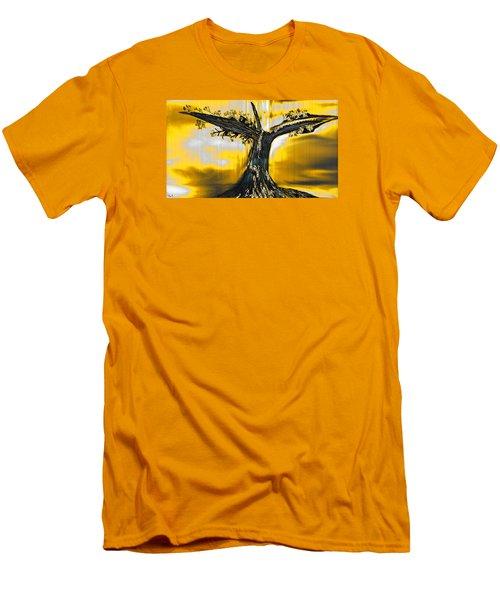 Solitude Men's T-Shirt (Slim Fit) by Yul Olaivar