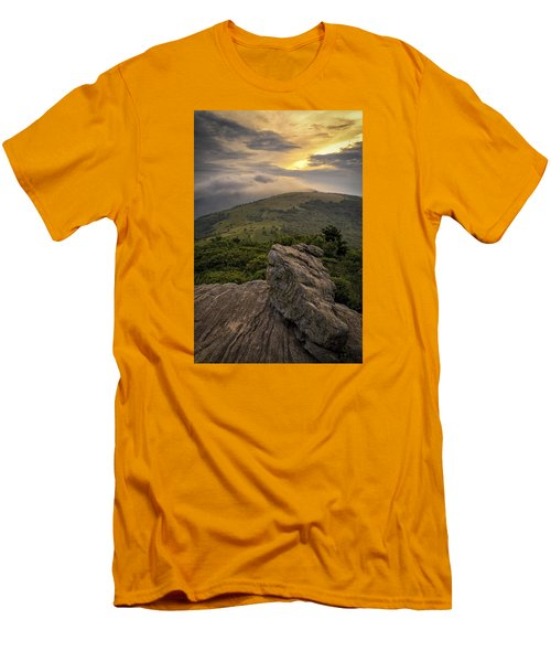 Rocky Sunset - Roan Mountain Men's T-Shirt (Athletic Fit)