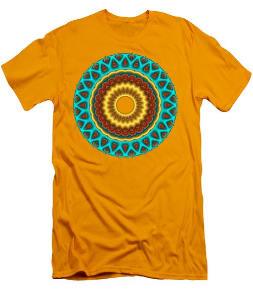 Southwestern Peacock Fractal Mandala Men's T-Shirt (Athletic Fit)